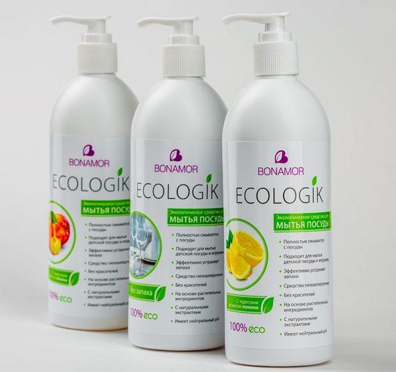 Экологическое средство для мытья посуды BONAMOR