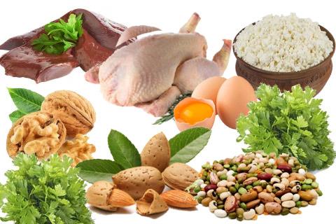 Витамины группы B (B2, B6, B7,B9): отвечают за подвижность мышц, улучшают метаболизм, защищают сосуды.