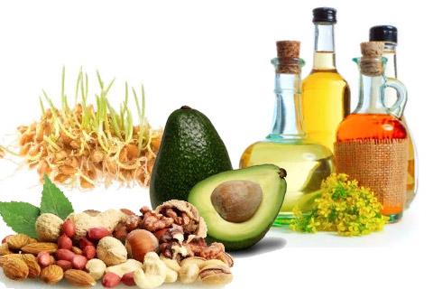 Источники витамина Е: зародыши пшеницы, масло подсолнечное/хлопковое/соевое, орехи, авокадо.
